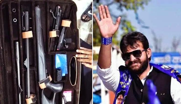 बाहुबली मुख्तार अंसारी के बेटे के घर पुलिस रेड, ऐसे-ऐसे हथियार मिले देख पुलिस के उड़े होश