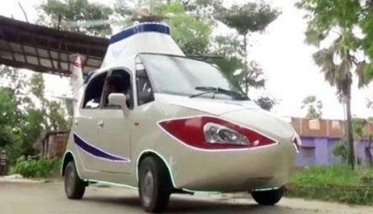 man turned his nano car into helicopter,nano car into helicopter,bihar
