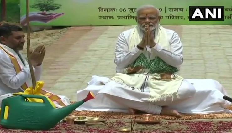 वाराणसी में PM मोदी, पौधारोपण अभियान की करी शुरुआत, तस्वीरें