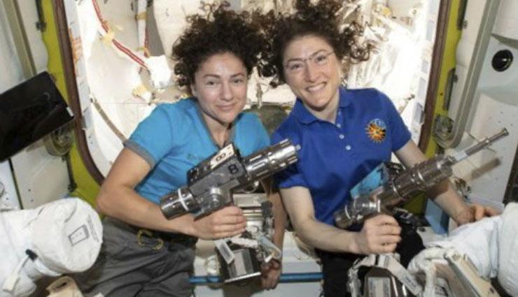 अंतरिक्ष में रचा गया इतिहास, पहली बार दो महिलाओं  ने इंटरनेशनल स्पेस स्टेशन पर स्पेसवॉक किया