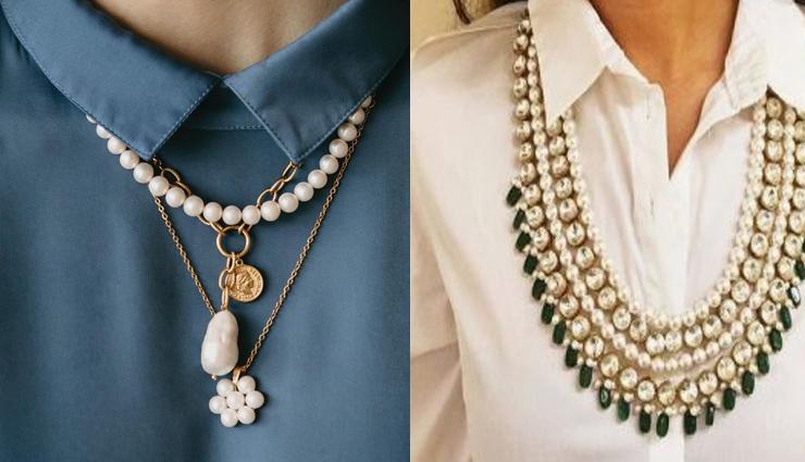 necklaces,neck-pieces,basic tops,simple dress,tips to add spice in your basic dress,fashion tips,fashion trends ,फैशन टिप्स, फैशन ट्रेंड्स, अपने बेसिक ड्रेस में स्टाइल का  तड़का  देने के लिए पहने ये नेकपीस