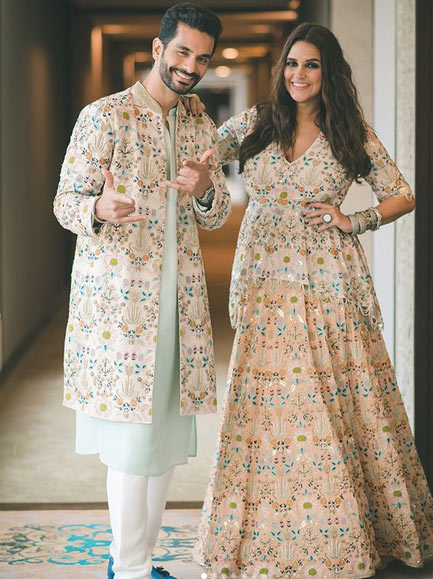 bollywood,neha dhupia,angad bedi,ramp walk,baby bump,lakme fashion week 2018 ,बॉलीवुड,नेहा धूपिया,अंगद बेदी,बेबी बंप