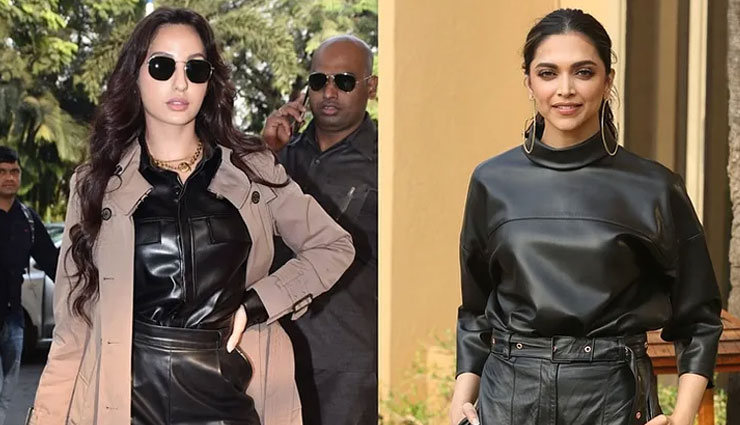 PICS- Nora Fatehi copies Deepika Padukone's all-leather outfit