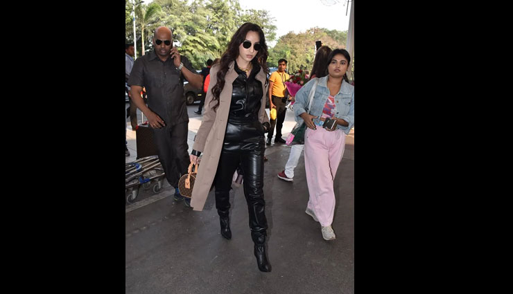 nora fatehi,nora fatehi copies deepika padukone,deepika padukone all-leather outfit,bollywood celebrity outfits,entertainment news
