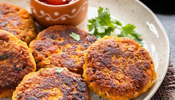 Recipe- Crispy Sweet Potato Oats Tikki For Rainy Days