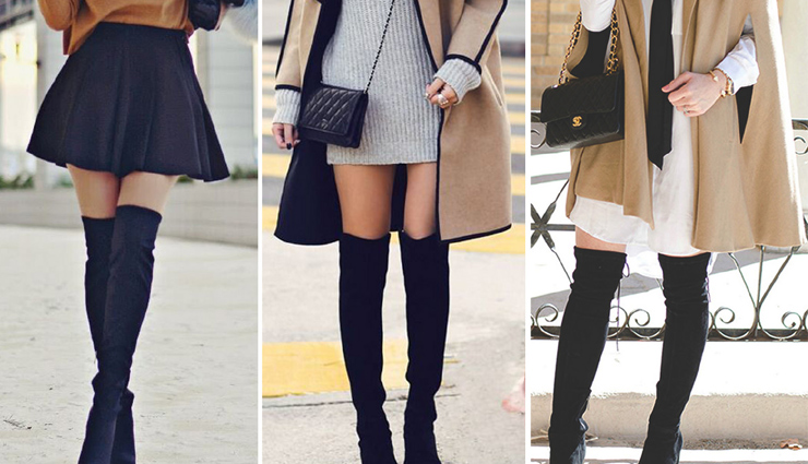 over the knee boots,ways to style over the knee boots,styling tips,fashion tips,latest fashion trends