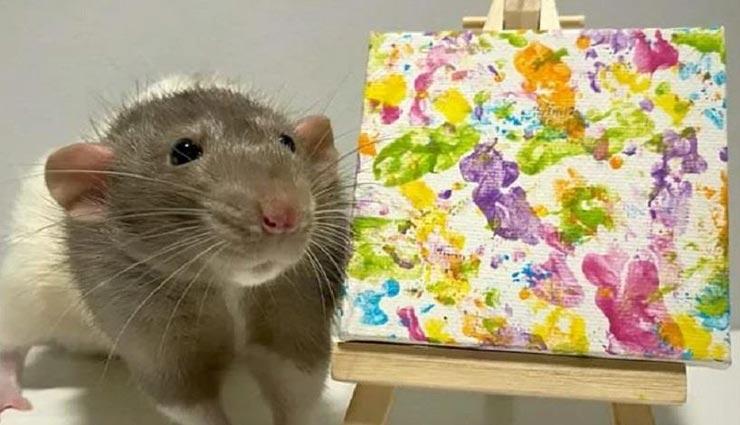 कमाल का कलाकार है ये चूहा जिसके एक पेंटिंग की कीमत 94 हजार रूपये
