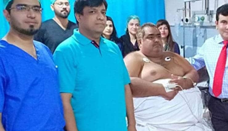 noorul hassan,pakistan,passes away,weird story,weird news ,सबसे मोटे आदमी, पकिस्तान, सेना के हेलीकॉप्टर, नूरुल हसन