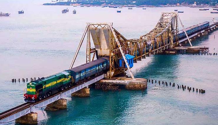 indias most unique rail route,unique rail route,pamban bridge rail route,travel,tourism,holidays ,ट्रेवल, टूरिज्म, हॉलीडेज, पमबन ब्रिज रेल रूट