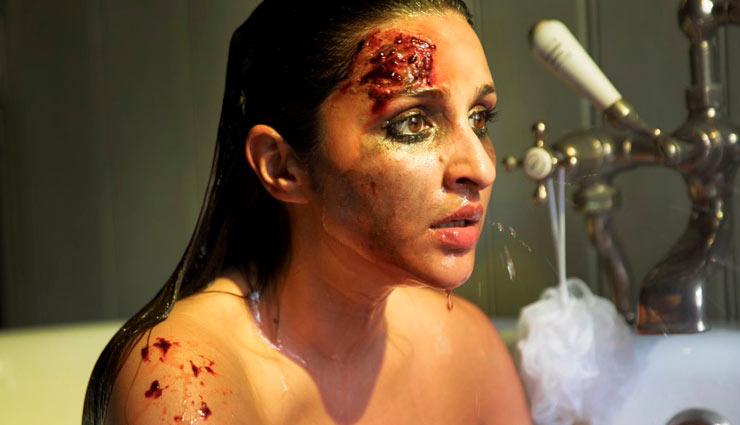 The Girl On The Train फर्स्ट लुक : माथे पर गहरी चोट और खून से लथपथ चेहरे के साथ बाथ टब में बैठी नजर आई परिणीति