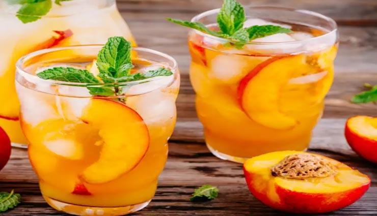 Summer Special : पीच एंड जिंजर कूलर ड्रिंक दूर करेगी आपकी थकान #Recipe