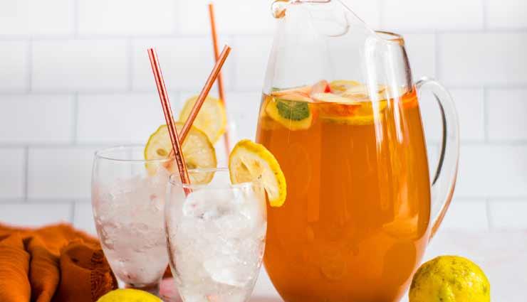 Summer Special : गर्मियों में इम्युनिटी के लिए बेस्ट है पीच ग्रीन टी मॉकटेल #Recipe