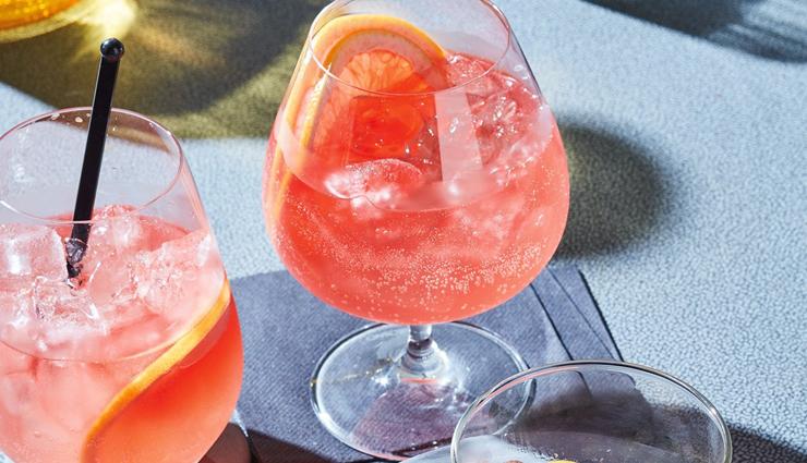 summer recipe,pink grapefruit party punch,drinks recipe,mocktail recipe