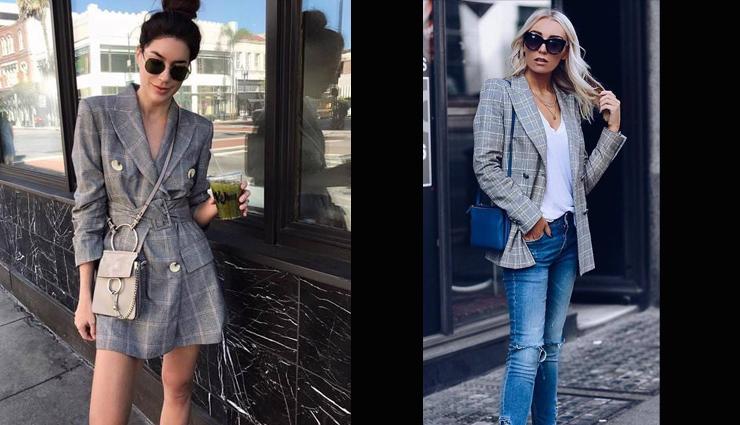 plaid blazer,plaid blazer styling tips,fashion tips,latest fashion trends,latest fashion tips