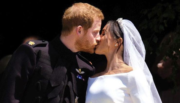 शादी के बंधन में बंधे प्रिंस हैरी और एक्ट्रेस मेगन मार्केल, तस्वीरे
