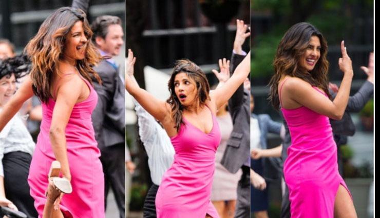 पिंक ड्रेस में न्यूयॉर्क की सड़कों पर डांस करती दिखी प्रियंका चोपड़ा, तस्वीरे वायरल