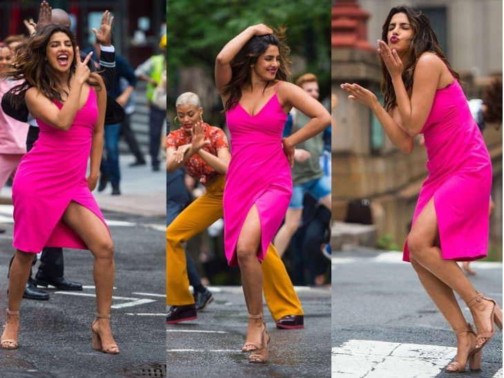 priyanka chopra,dance,street,newyork,hollywood ,प्रियंका चोपड़ा,हॉलीवुड ,न्यूयॉर्क