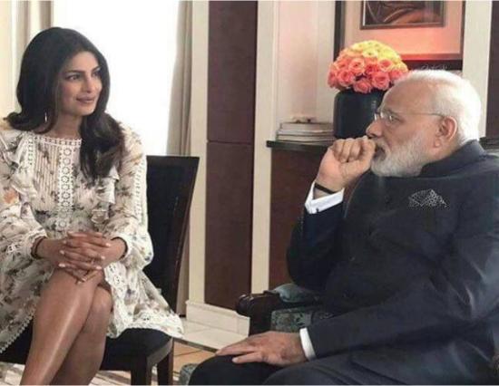 अब प्रियंका भी मिली प्रधानमंत्री नरेन्द्र मोदी जी से