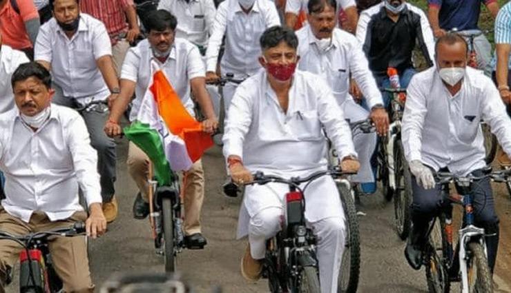 congress,workers,protest,against,rising,petrol,prices,arvind kejriwal,delhi,rahlul gandhi ,कांग्रेस,राहुल गांधी,पेट्रोल,डीजल