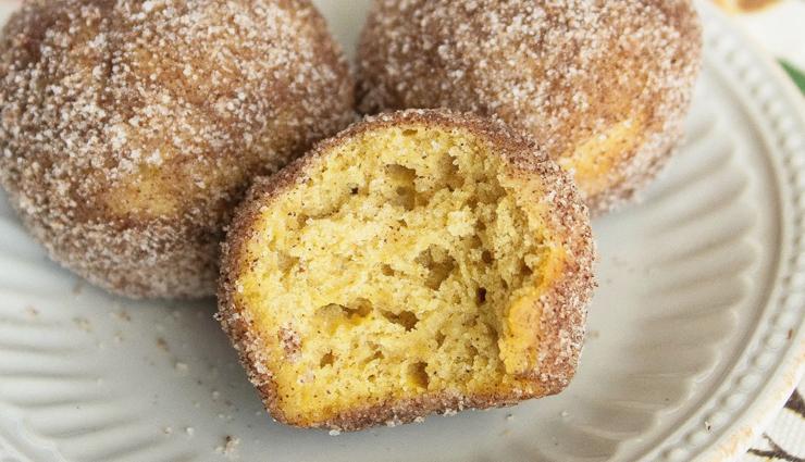 pumpkin doughnut muffins,muffins recipe,pumpkin recipe,dessert recipe,sweets recipe