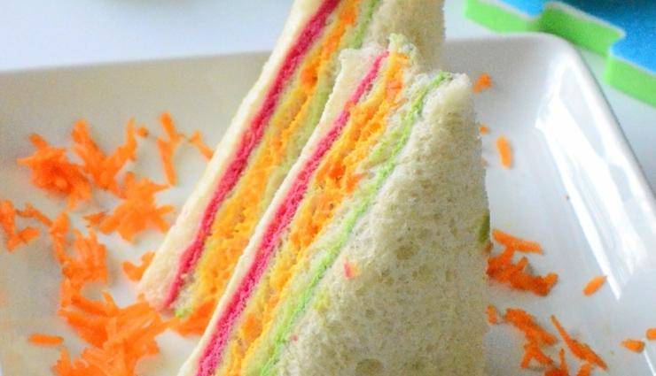 rainbow sandwich,rainbow sandwich recipe,hunger struck,food,easy recipes