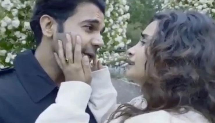 VIDEO- Rajkummar Rao recreates iconic 'DDLJ' climax scene with GF Patralekhaa