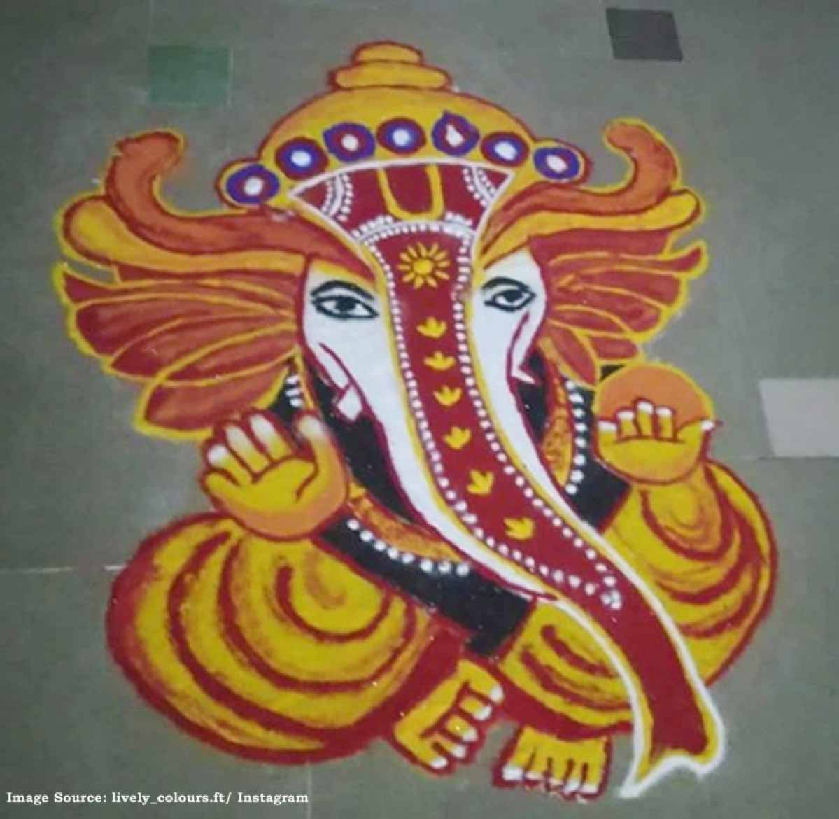 ganesh chaturthi 2019,simple ganpati rangoli designs,rangoli designs