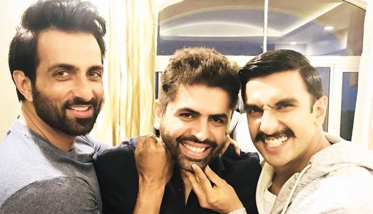 PICS- Ranveer Singh and his villain Sonu Sood enjoy in Hyderabad