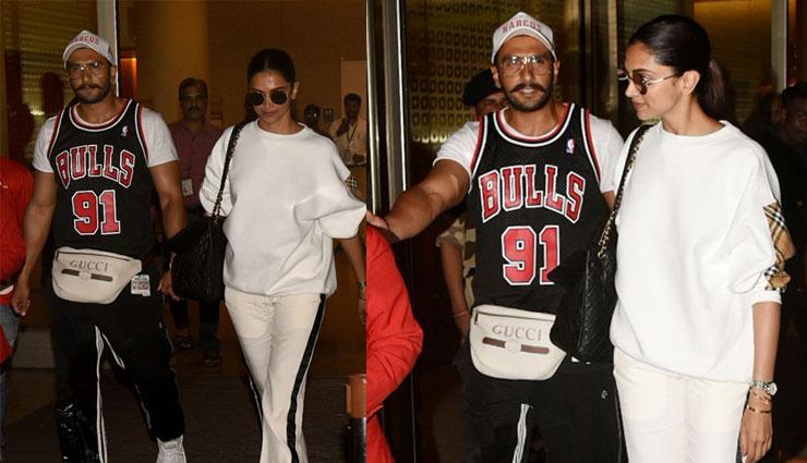 छुट्टियां बिता कर मुंबई लौटे दीपिका और रणवीर सिंह, COOL अंदाज़ में दिखे मुंबई एयरपोर्ट पर, तस्वीरे