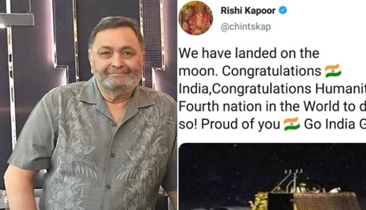For Rishi Kapoor, Chandrayaan-2 has already landed on the moon