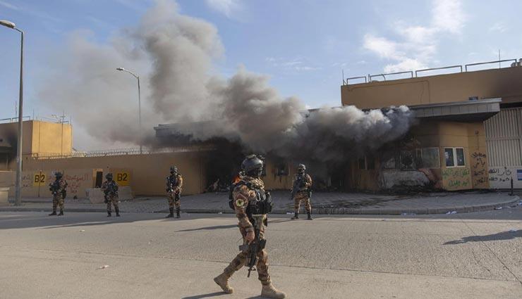 बगदाद : रॉकेट से किया गया अमेरिकी दूतावास पर हमला, नहीं गई किसी की जान
