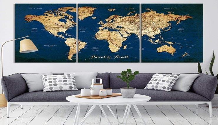 नक्शों की मदद से इस तरह करें घर की सजावट, बढ़ेगा आकर्षण मिलेगी खूबसूरती