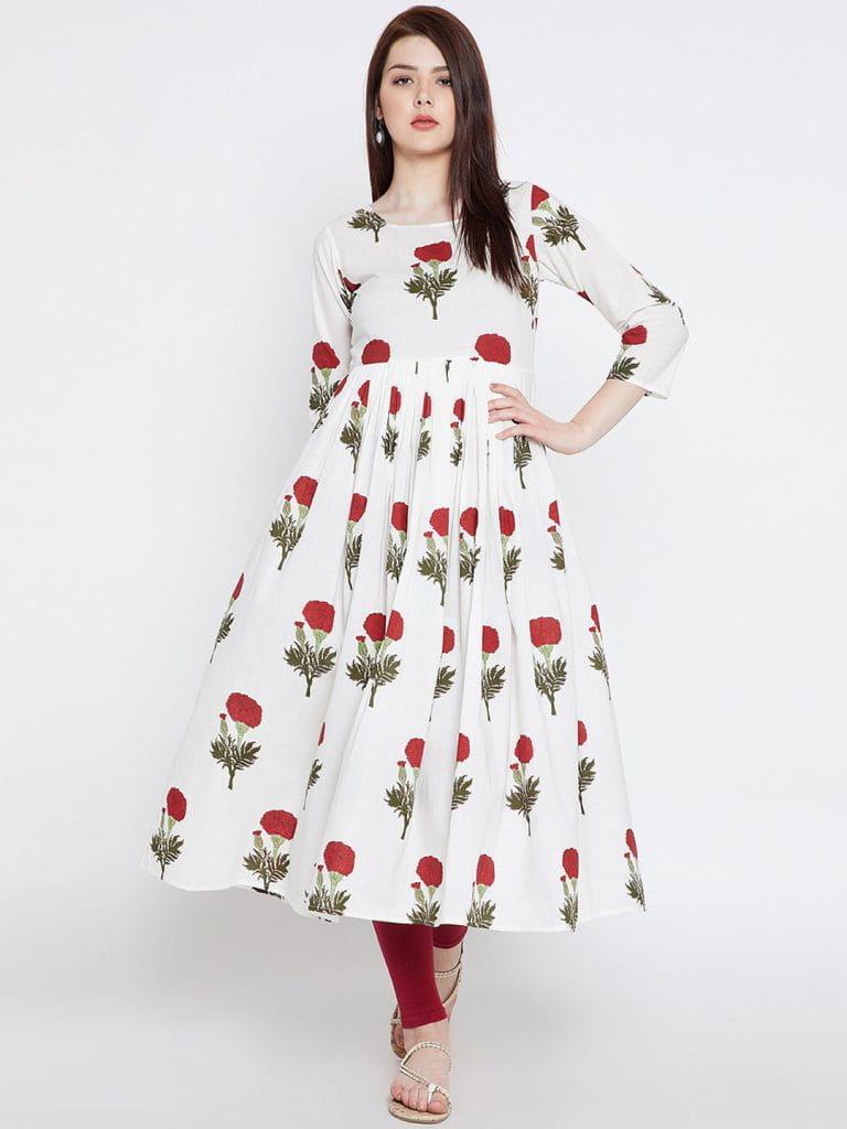 floral kurtas,summer kurtas,fashion tips