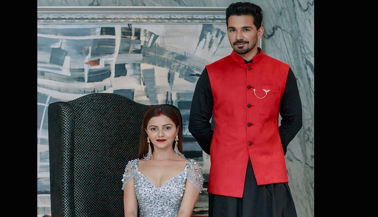 PICS- Rubina Dilaik and Abhinav Shukla reception look is not less than a royal couple