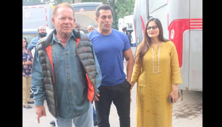 Salman Khan,salim khan,alvira,bharat,salman khan photos,salman khan salim khan photos,bharat promotion,katrina kaif,entertainment,bollywood ,सलमान खान,भारत,सलीम खान,कैटरिना कैफ