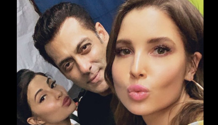 Salman Khan hangs out with Jacqueline Fernandez and her doppelganger Amanda Cerny