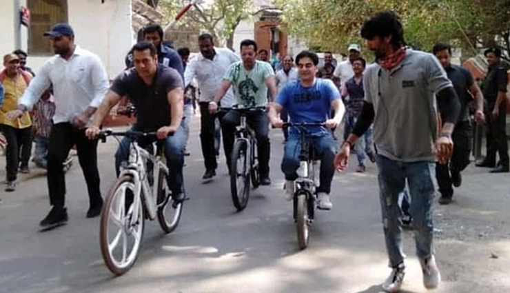Salman Khan heads to shoot for 'Dabangg 3' on a bicycle in his birth city Indore