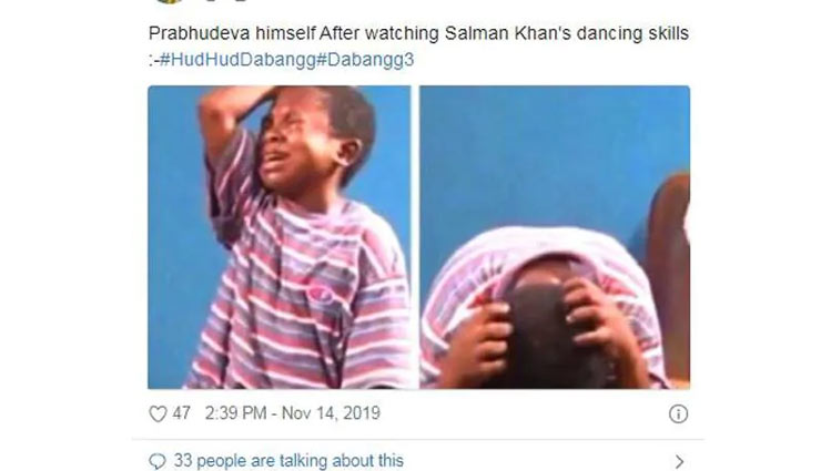 Salman Khan,dabangg 3,dabangg 3 song,hud hud song,memes,social media,salman khan news,bollywood news in hindi,entertainment ,सलमान खान,दबंग 3