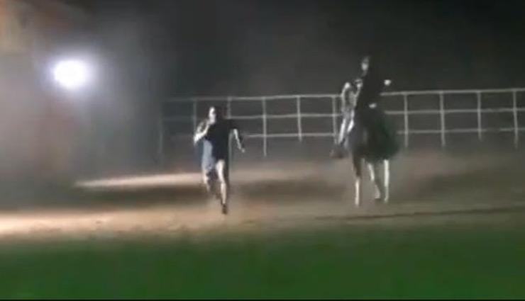 भाईजान ने लगाईं घोड़े के साथ रेस, वायरल हुआ सलमान का यह जबरदस्त VIDEO