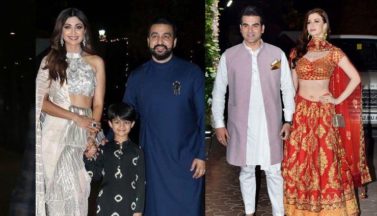 Diwali Celebration : शिल्पा शेट्टी की दीवाली पार्टी में 'गर्लफ्रेंड' संग पहुंचे अरबाज, देखे तस्वीरे