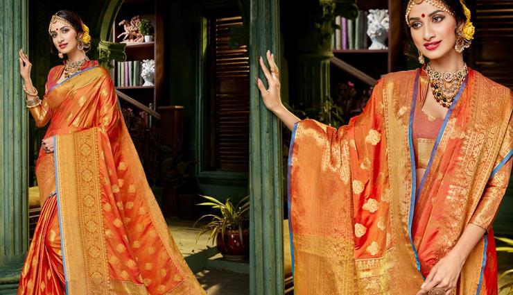 silk saree,royal look with silk saree,silk saree,kanjeevaram silk,tussar silk,evergreen silk,fashion tips,fashion trends ,सिल्क सारी, कांजीवरम सिल्क सारी , सदाबहार सिल्क सारी फैशन टिप्स, ट्रेंड्स