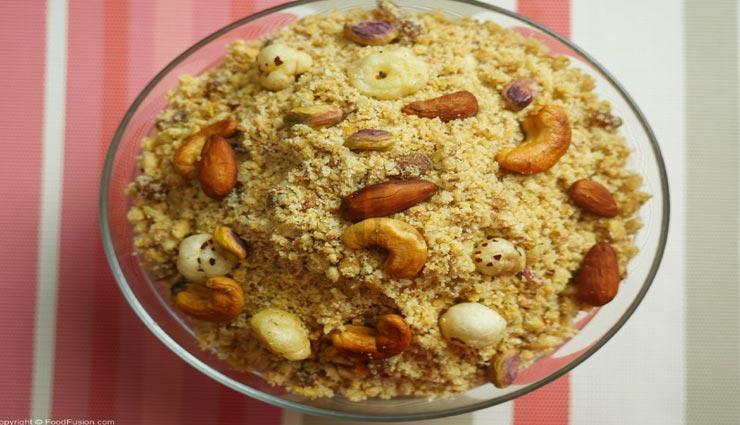 panjiri,panjiri recipe,special recipe,jamnashtami special,jamnashtami 2019 ,पंजीरी, पंजीरी रेसिपी, पंजीरी का प्रसाद, जन्माष्टमी स्पेशल, जन्माष्टमी 2019