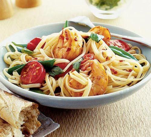 recipe,prawns recipe,spicy prawn linguine,linguine recipe,non veg recipe