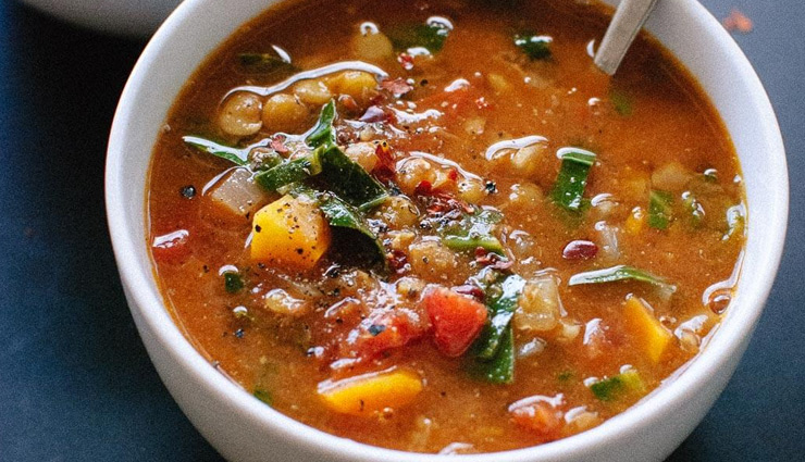Enjoy Chill Winter Days With Spicy Veggie and Lentil Soup