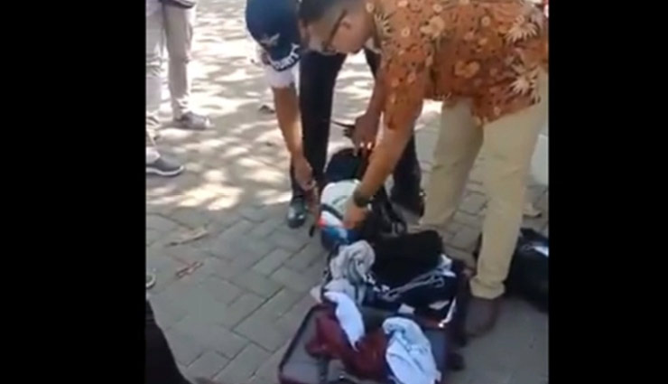 VIDEO- Indian family caught stealing items from Bali hotel