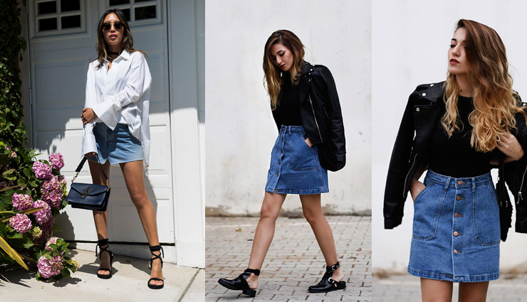 denim skirts,tips to style denim skirts,styling tips,fashion tips,latest fashion trends