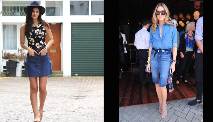 5 Ways To Style Your Denim Skirts