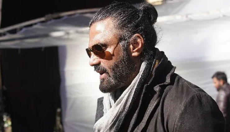 suniel shetty first look from darbar,darbar,rajnikanth starrer darbar,rajnikanth,suniel shetty,entertainment news