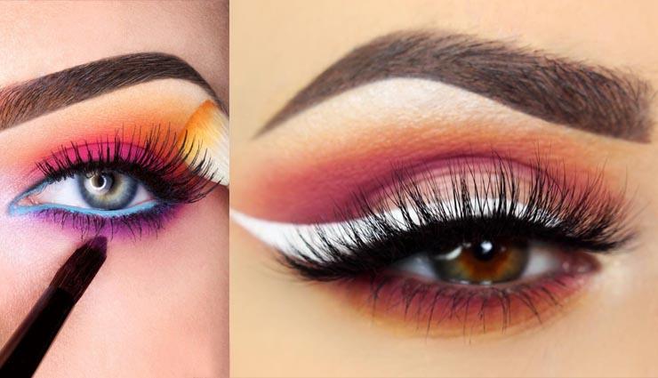 sunset eye shades,beauty tips in hindi,beauty tips for eyes,sunset eye shades for eyes