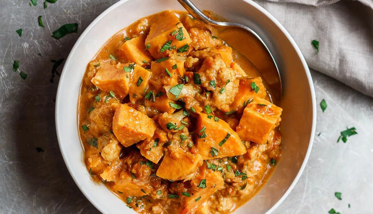 Recipe- Flavorful and Vegan Sweet Potato Curry